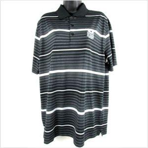 Nike Golf Dri-Fit Black Gray Polo Shirt Large L
